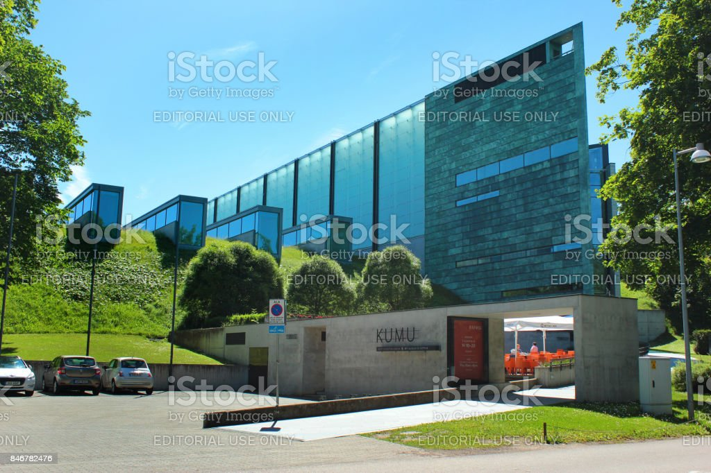Kumu Art Museum in Tallinn, Estonia stock photo