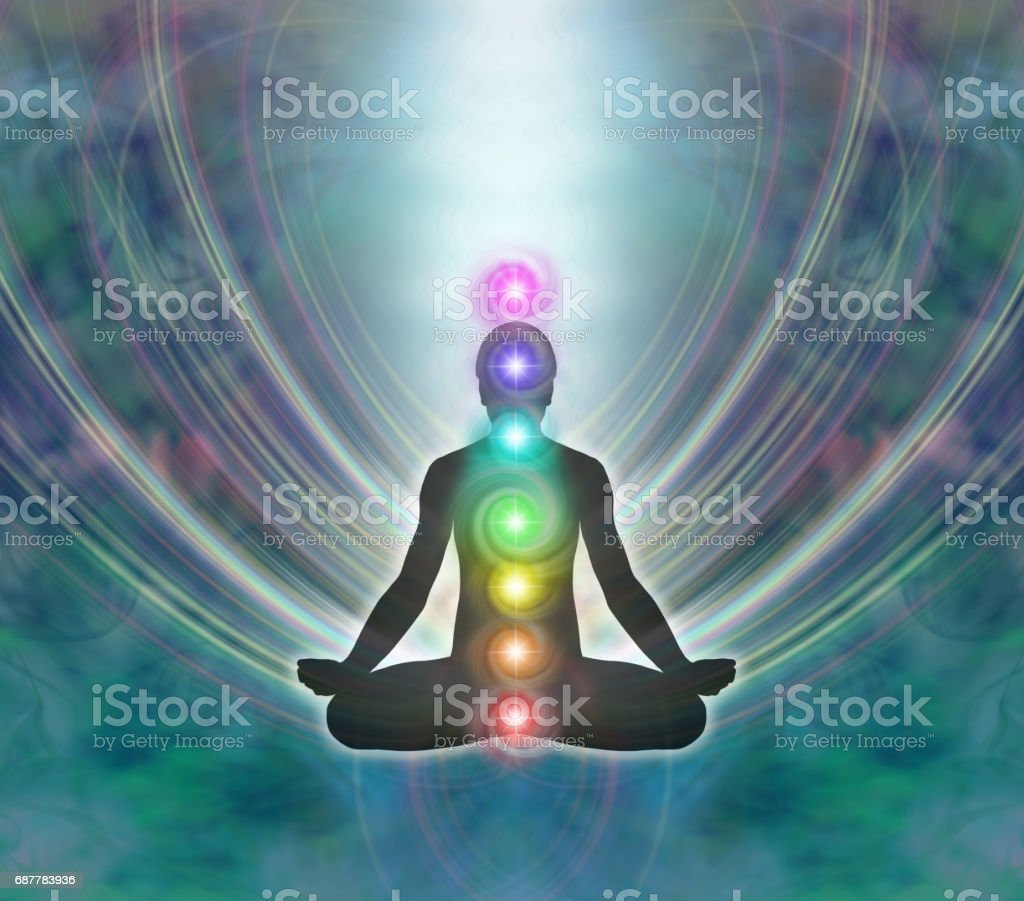 Kundalini Meditation stock photo