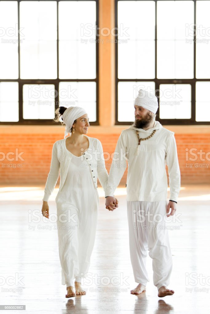 Kundalini Wedding A Couple Getting Married Stock Photo