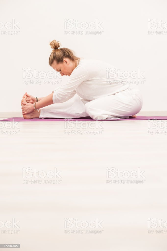 Kundalini Yoga Meditation With Maha Mudra Kriya Stock Photo