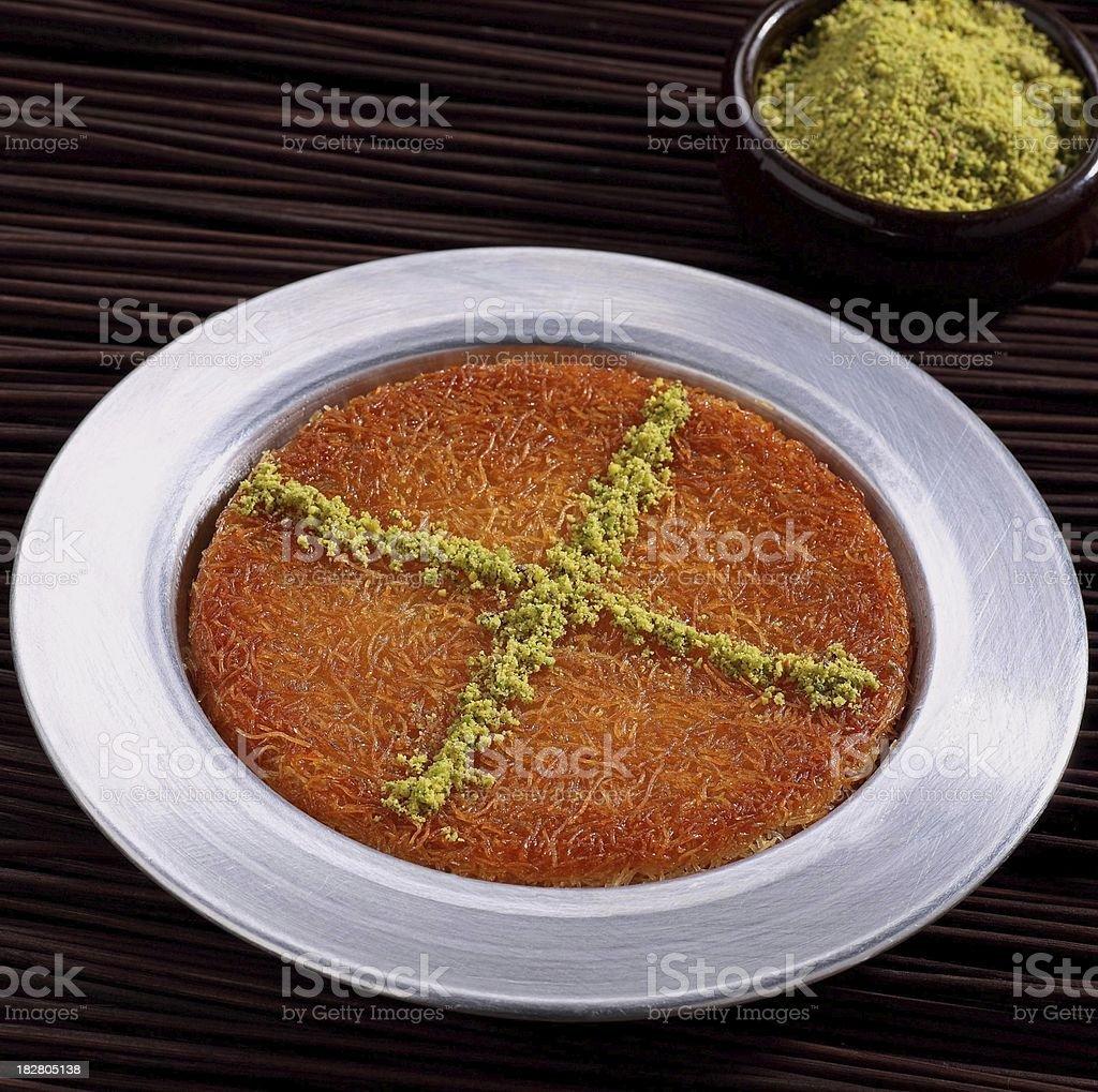 Kunefe. Turkish Sweet. royalty-free stock photo