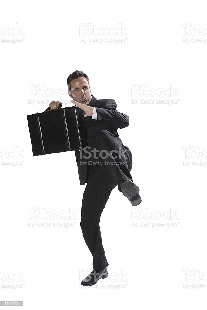 Kung Fu Businessman stock photo