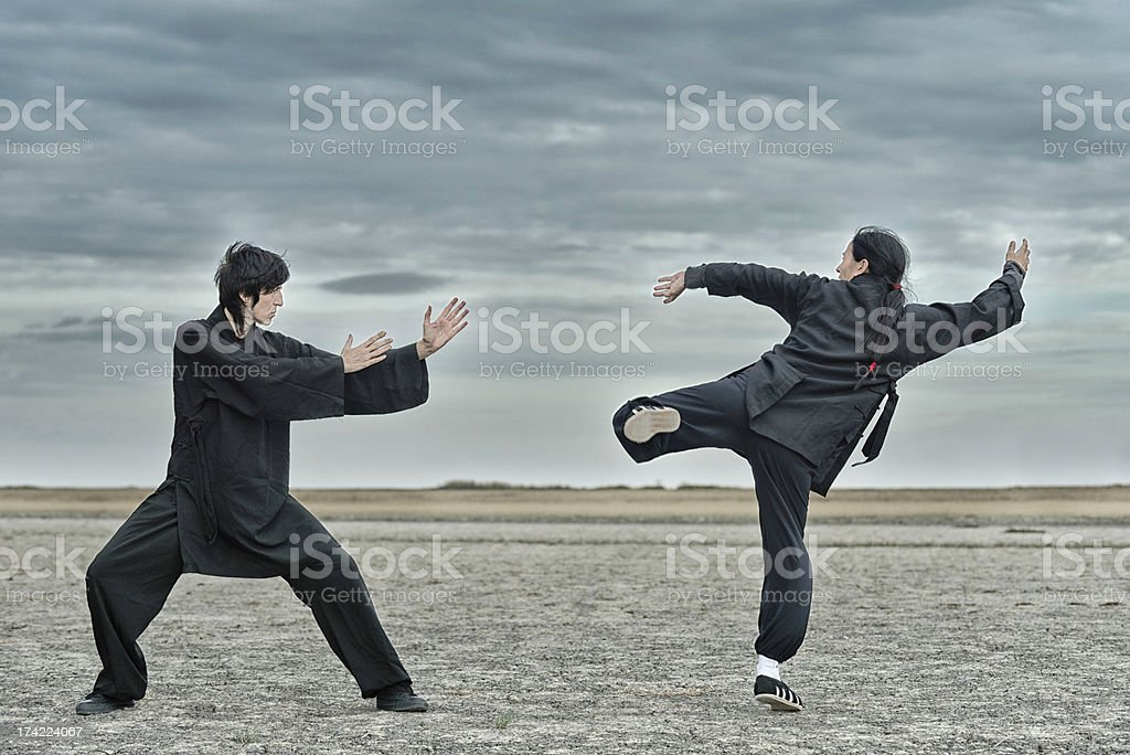 Kung Fu Fighting stock photo