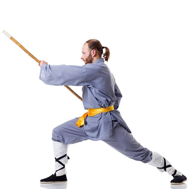 Vietnam Hanoi Young Man Exercising Kung Fu High-Res Stock