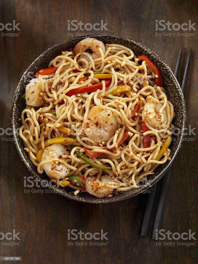 Kung Pao camarones - foto de stock