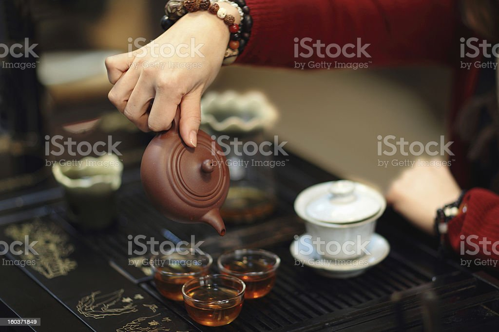 Kungfu tea stock photo