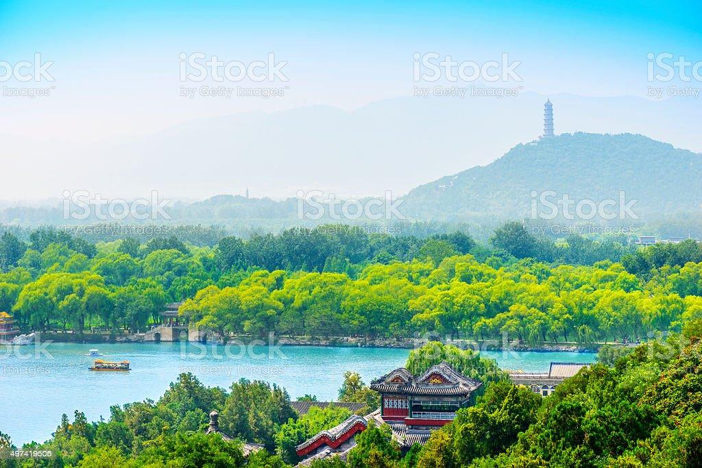 Kunming Lake and The Summer Palace stock photo