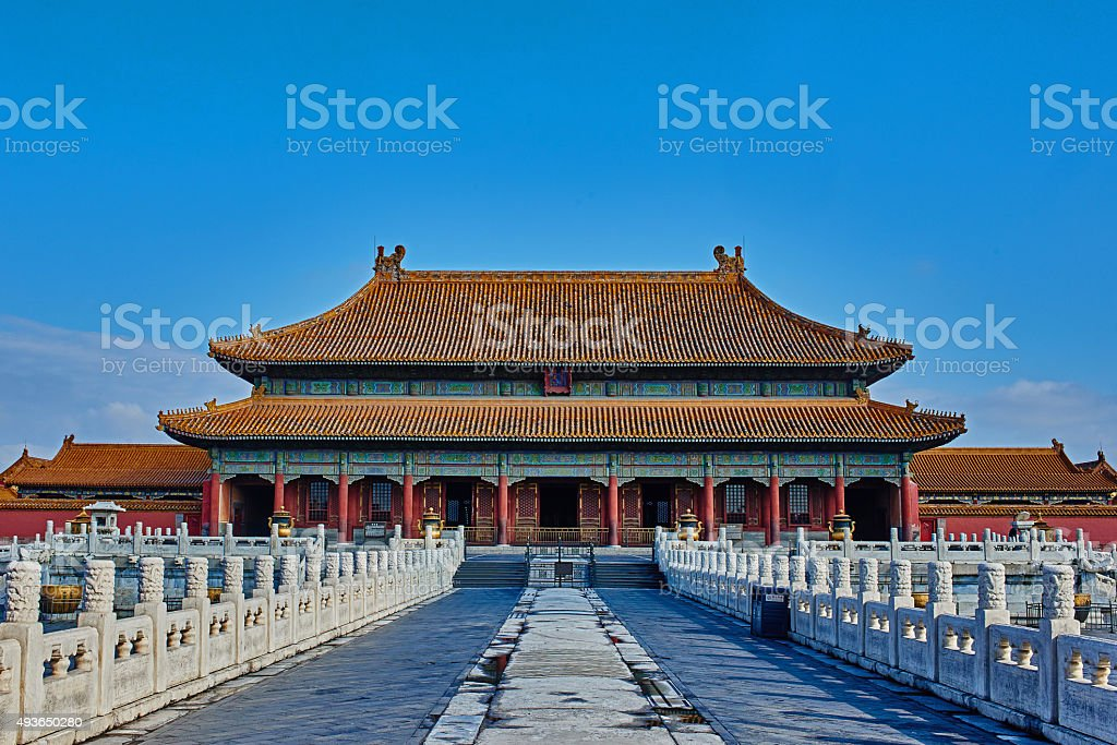 Kunninggong Palace Of Earthly Tranquility Imperial stock photo