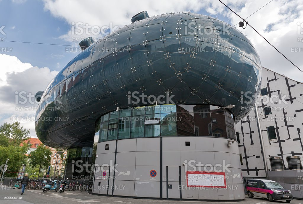 Kunsthaus, an exhibition center for contemporary art in Graz, Austria. stock photo