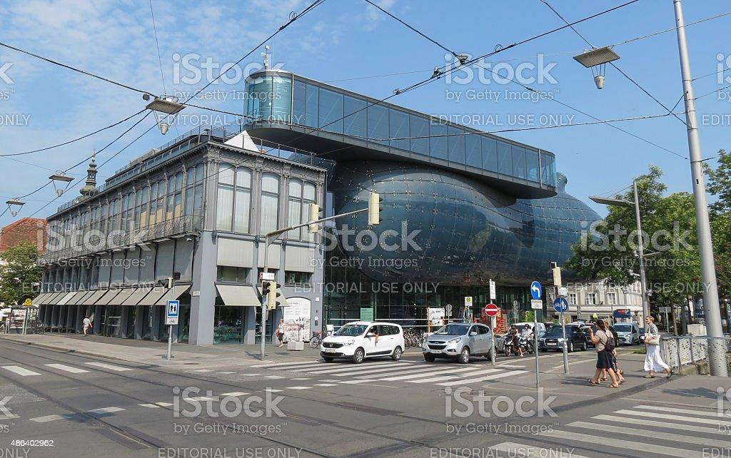 Kunsthaus Graz art museum in Graz stock photo