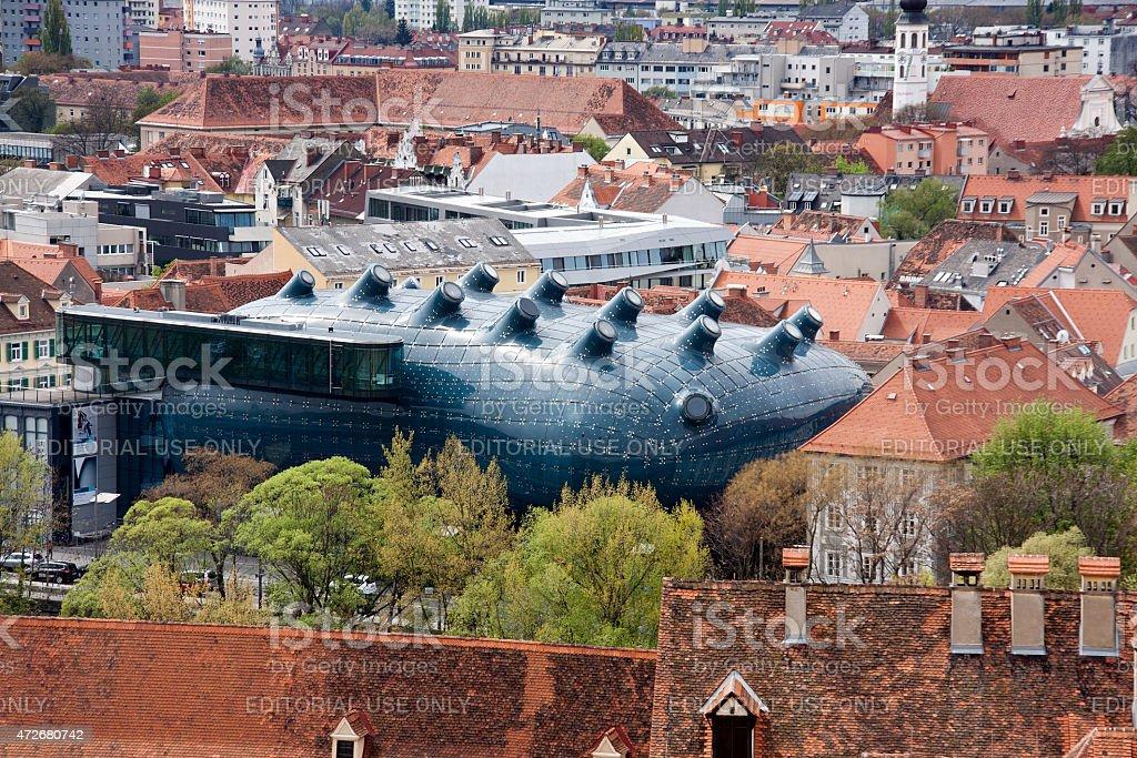 Kunsthaus, the exhibition center in Graz, Austria stock photo