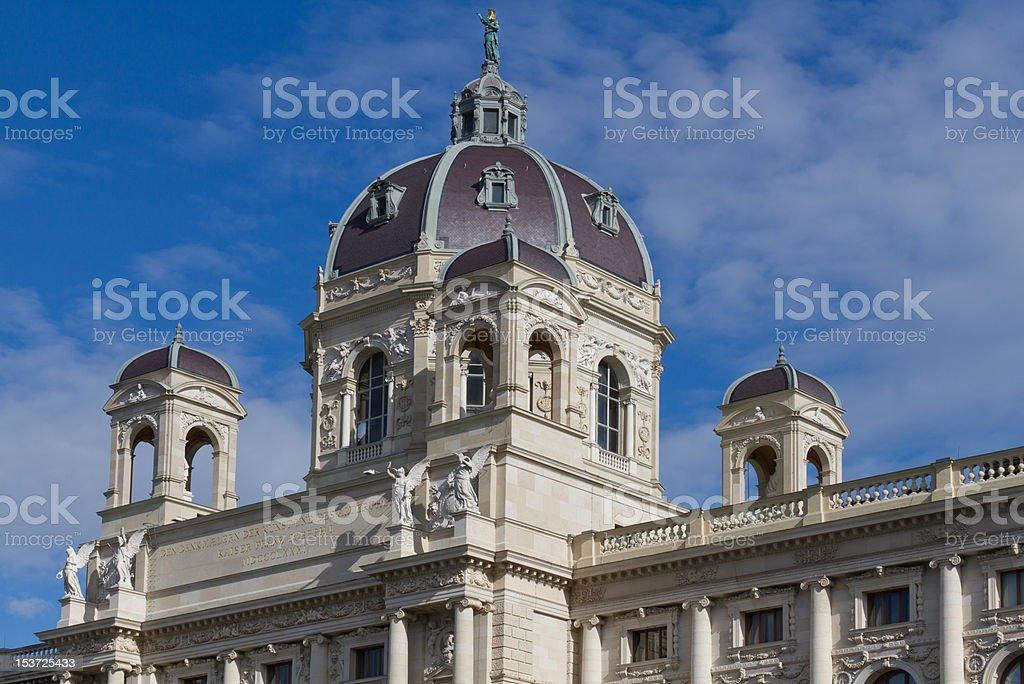 Kunsthistorisches Museum in Wien stock photo