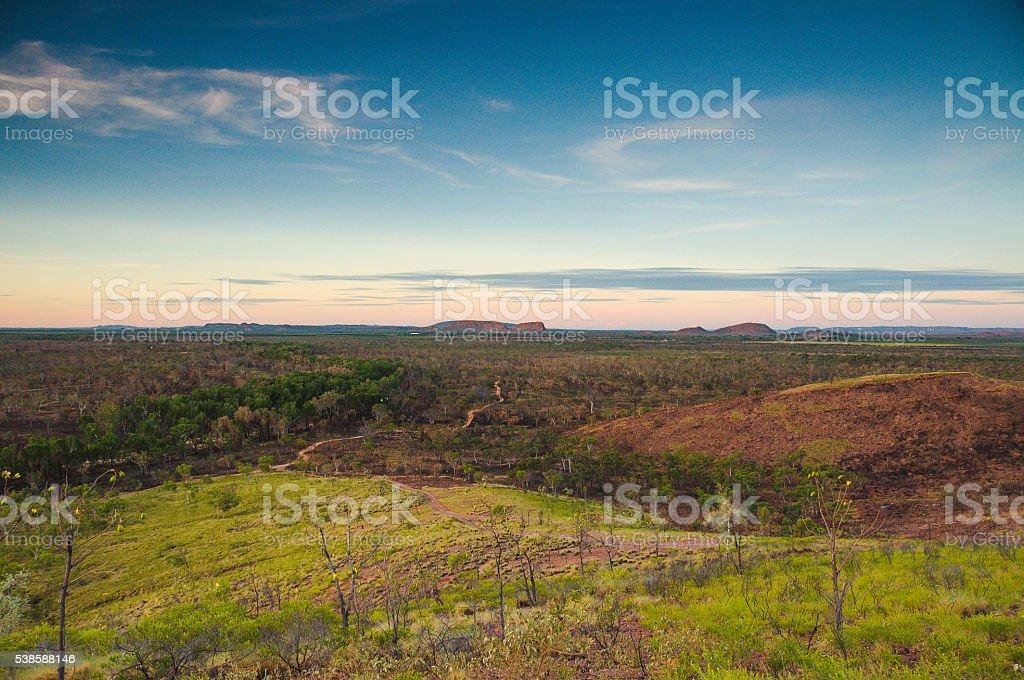 Kununurra hill view stock photo