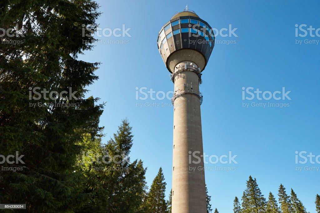 Kuopio-Aussichtsturm. Finnland Stadtbild Wahrzeichen. Reisen-Hintergrund – Foto