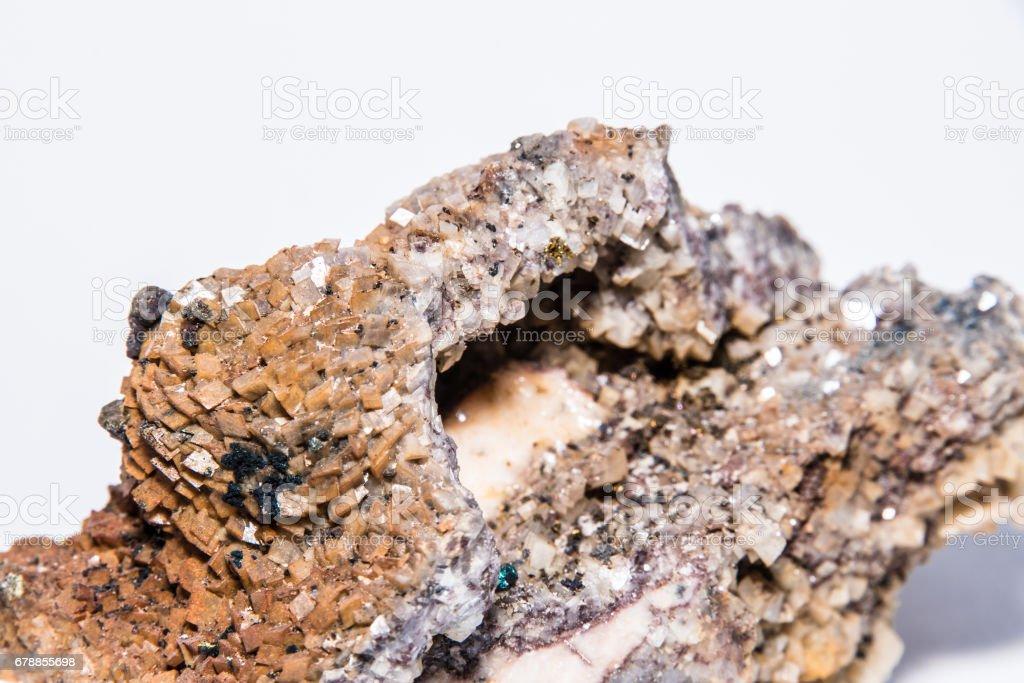 Kupferkies colorful color gemstone gem jewel mineral precious stock photo