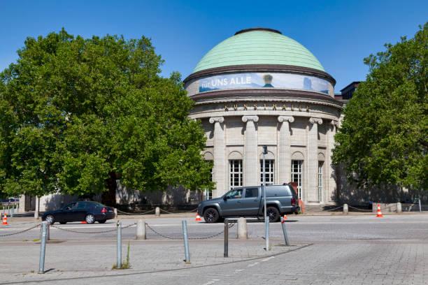 Kuppelsaal of the Hamburger Kunsthalle in Hamburg stock photo