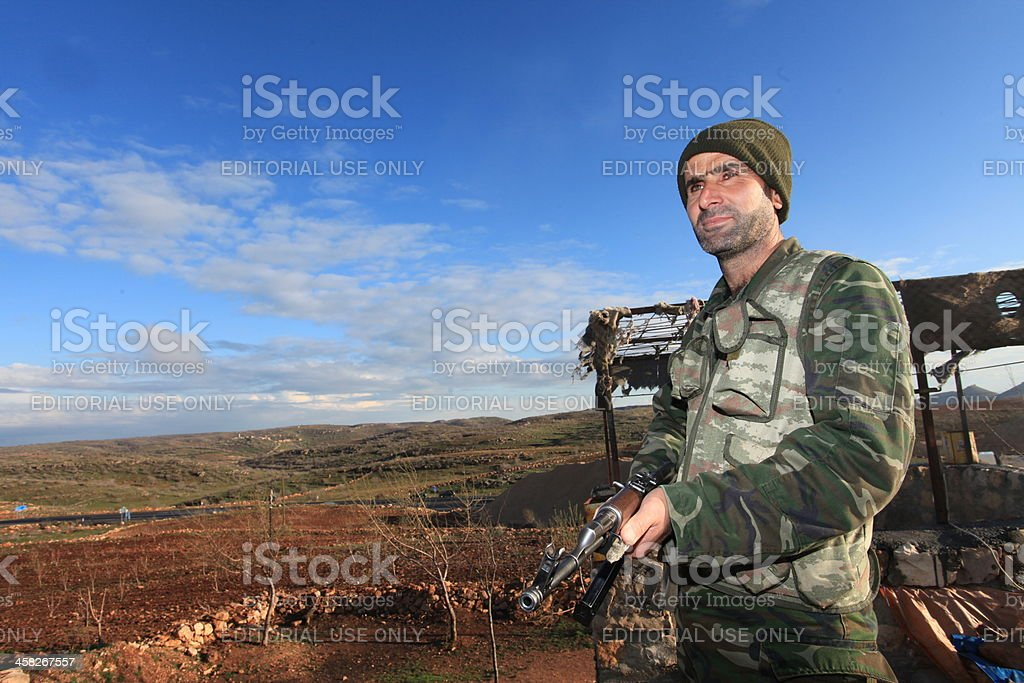 Kurdish Paramilitary in Turkey. stock photo