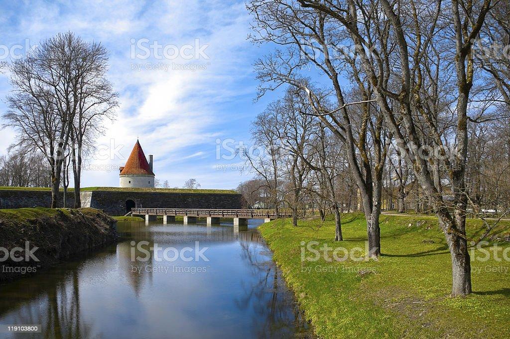 Kuressaare castle tower stock photo