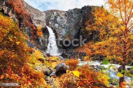 istock Kurkure waterfall in Altai mountains, Siberia, Russia. 1156239236