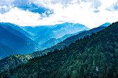 Kurobe Dam, Japanese mountain landscape
