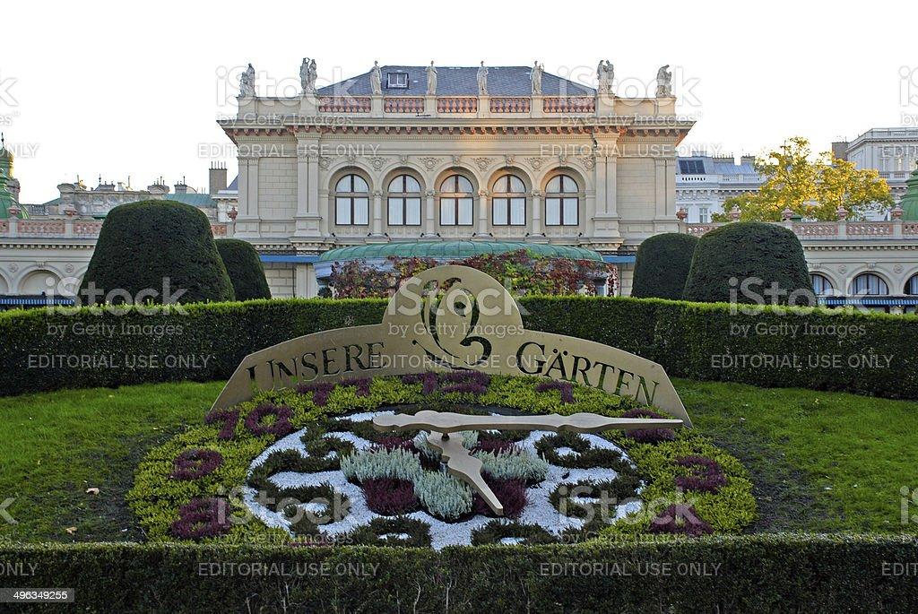 Kursalon and 'Unsere Garten', Vienna stock photo