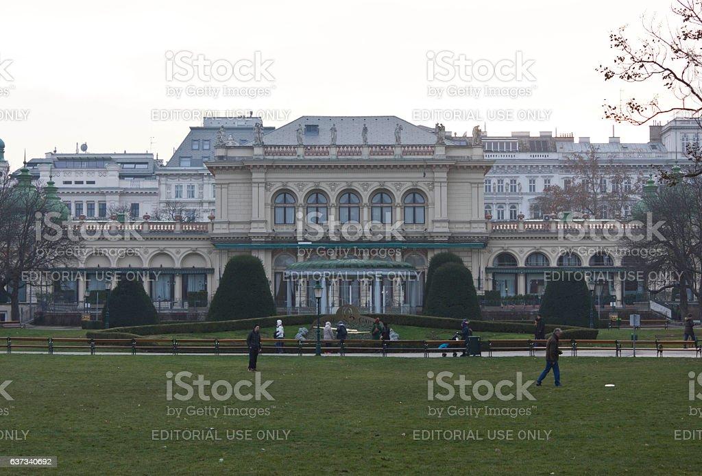 Kursalon Building in Vienna inside Stadtpark stock photo