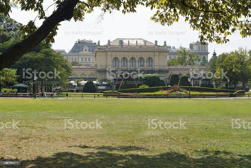 kursalon in the Viennese City Park stock photo