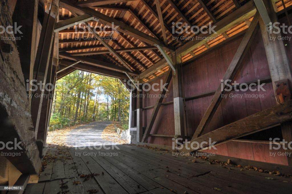 Kurtz's Mill Covered Bridge stock photo