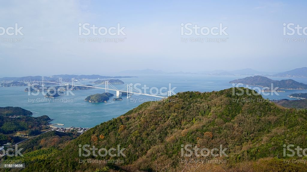 Kurushima estrecho en el mar interior de Seto - foto de stock