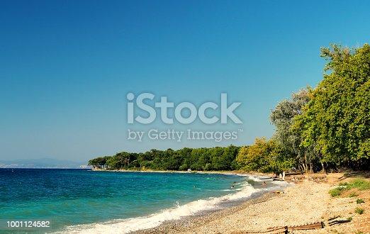 istock Kusadasi turkey beachfront and sea views. The nearest national park 1001124582
