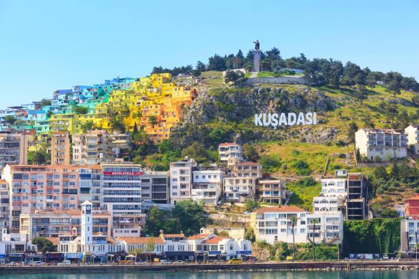 Kusadasi, Turkey city panorama stock photo