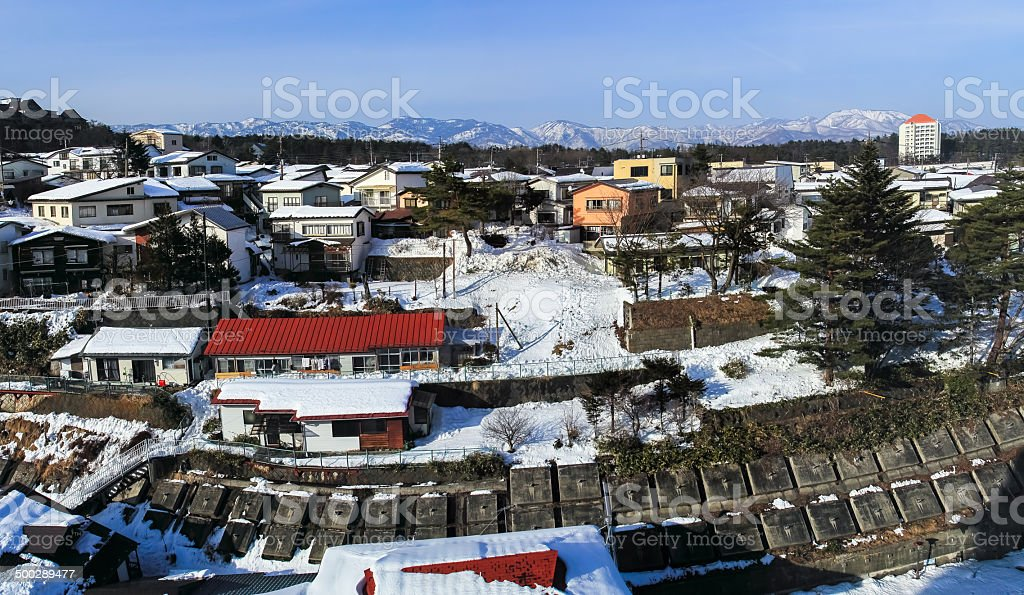 Kusatsu hot spring Village stock photo