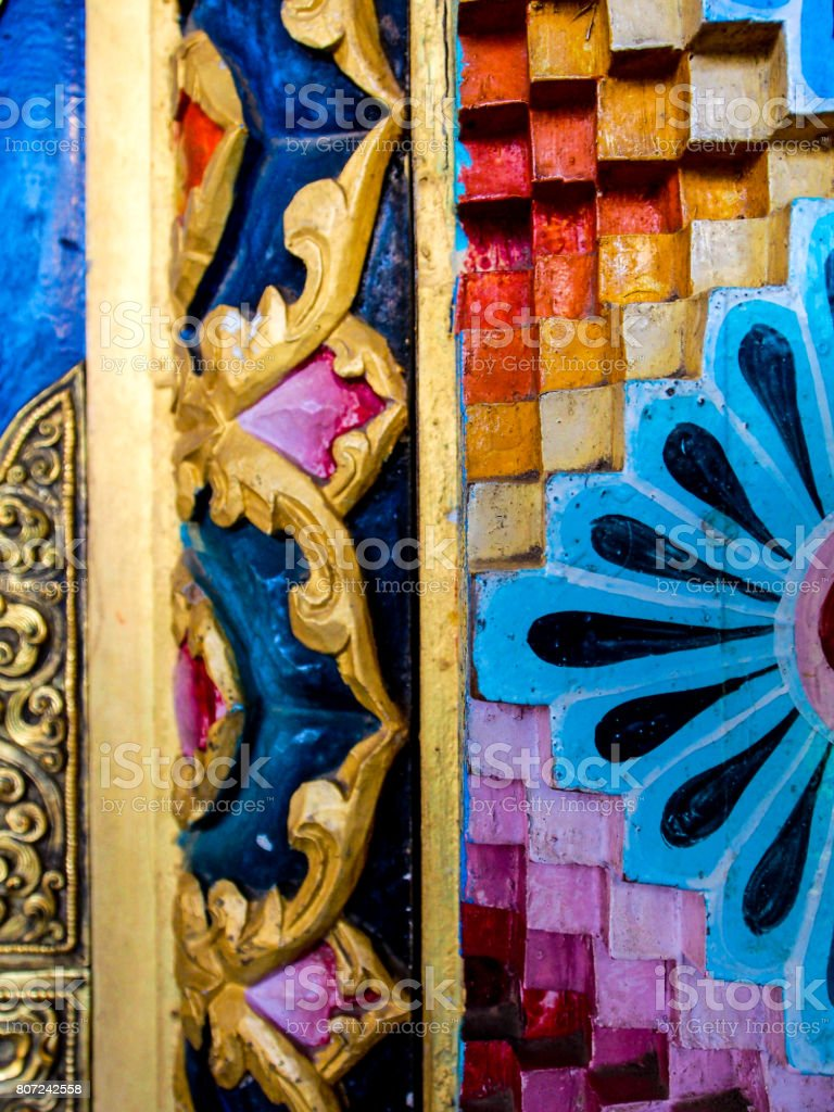 Kushalnagar Temples in India stock photo