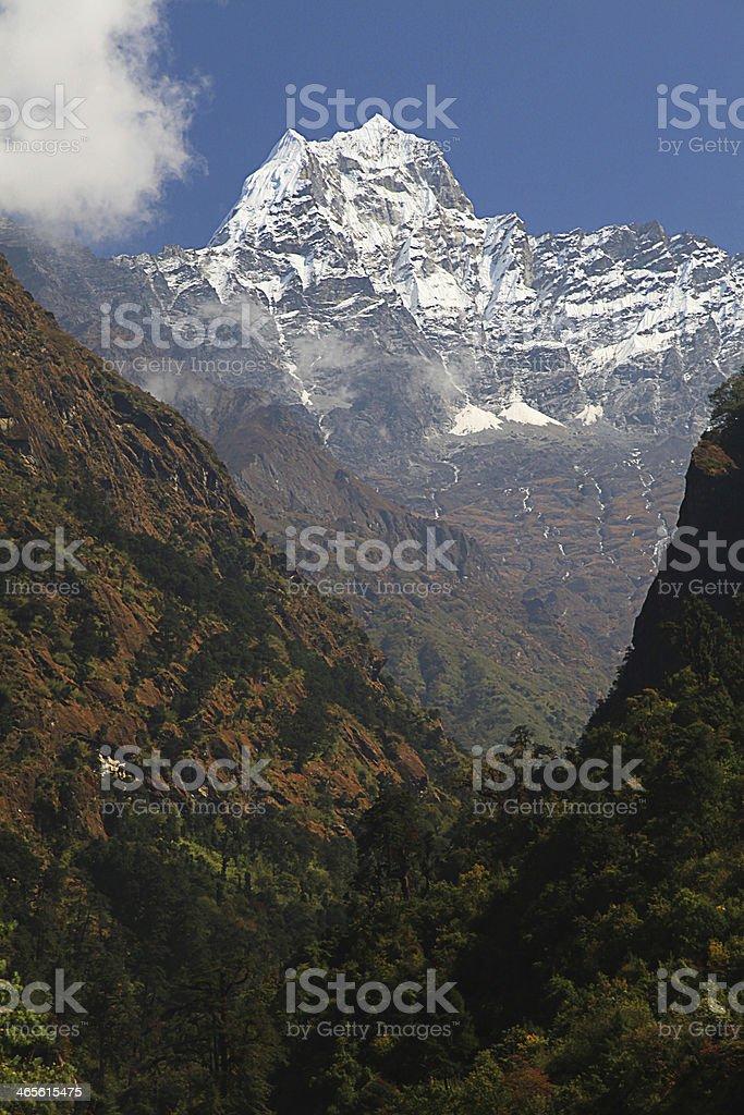 Kusum Kanguru Peak 6,367m royalty-free stock photo