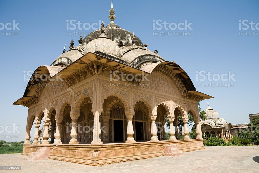 Kusum Sarovar Temple / Vrindaban / India stock photo