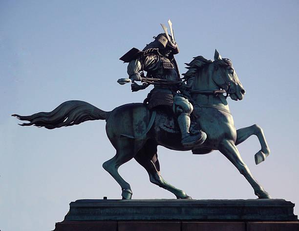Kusunoki Masashige Statue stock photo