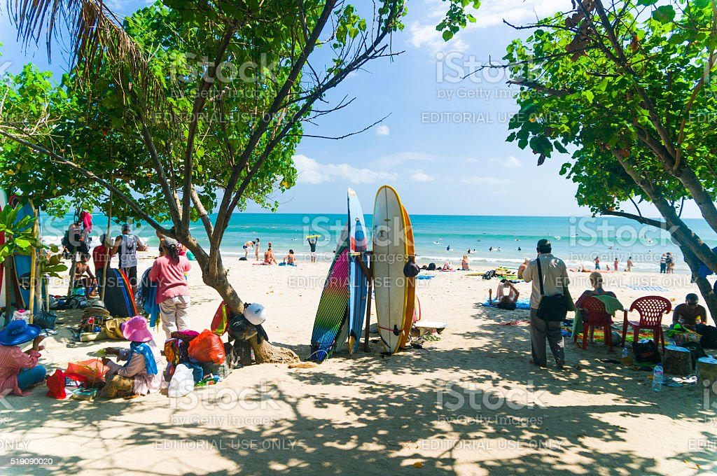 Kuta Beach, Bali, Indonesia, Southeast Asia stock photo