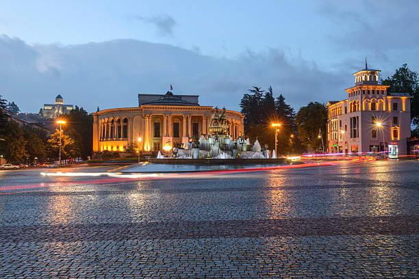 Kutaisi Central square, Georgia stock photo