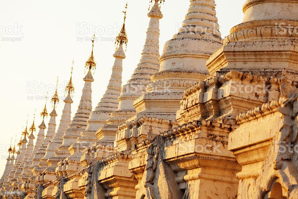 Kuthodaw Pagoda, Myanmar stock photo