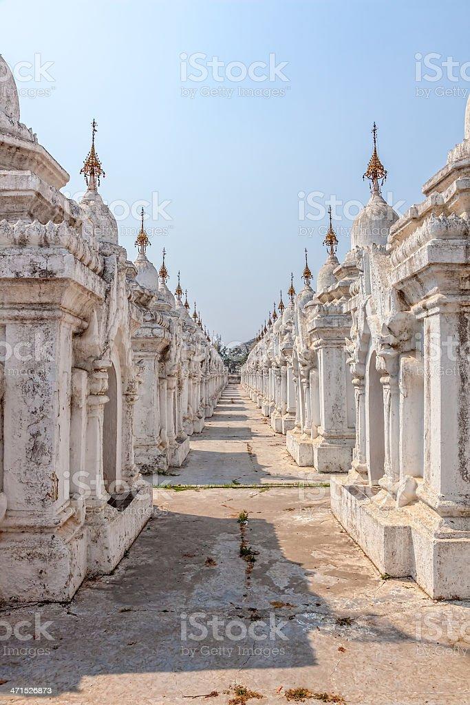 Kuthodaw Pagoda royalty-free stock photo