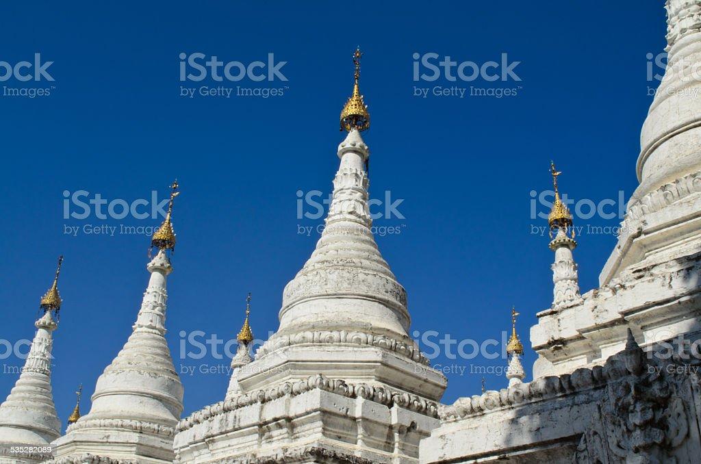 Kuthowdaw Pagoda, Mandalay, Myanmar stock photo