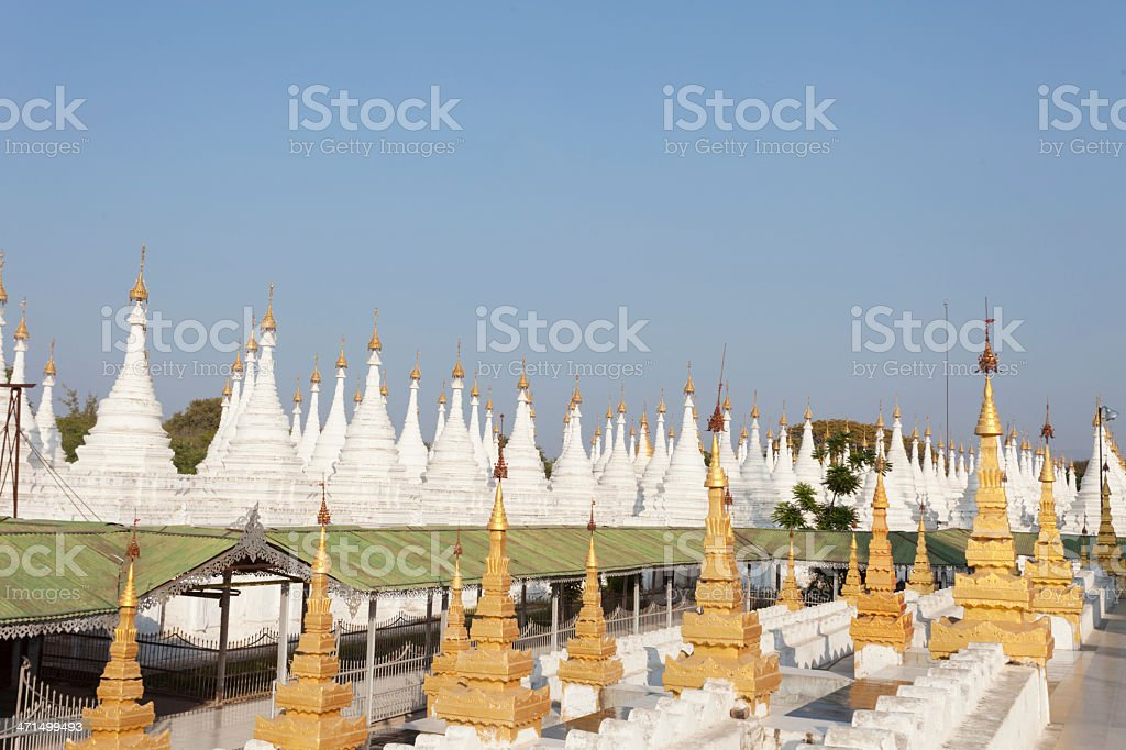 Kuthowdaw Pagoda with 'The largest book in the world'. stock photo