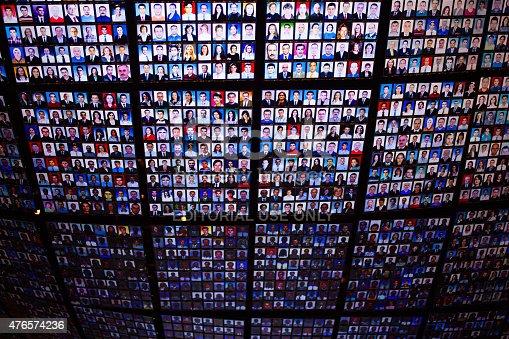 "Venice, Italy - May 6, 2015: Kutlug Ataman's video installation titled ""The portrait of Sakip Sabanci\"