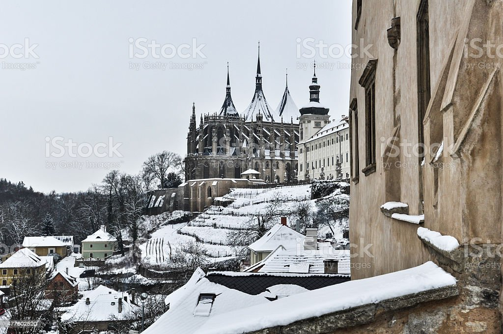 Kutna Hora in Winter stock photo