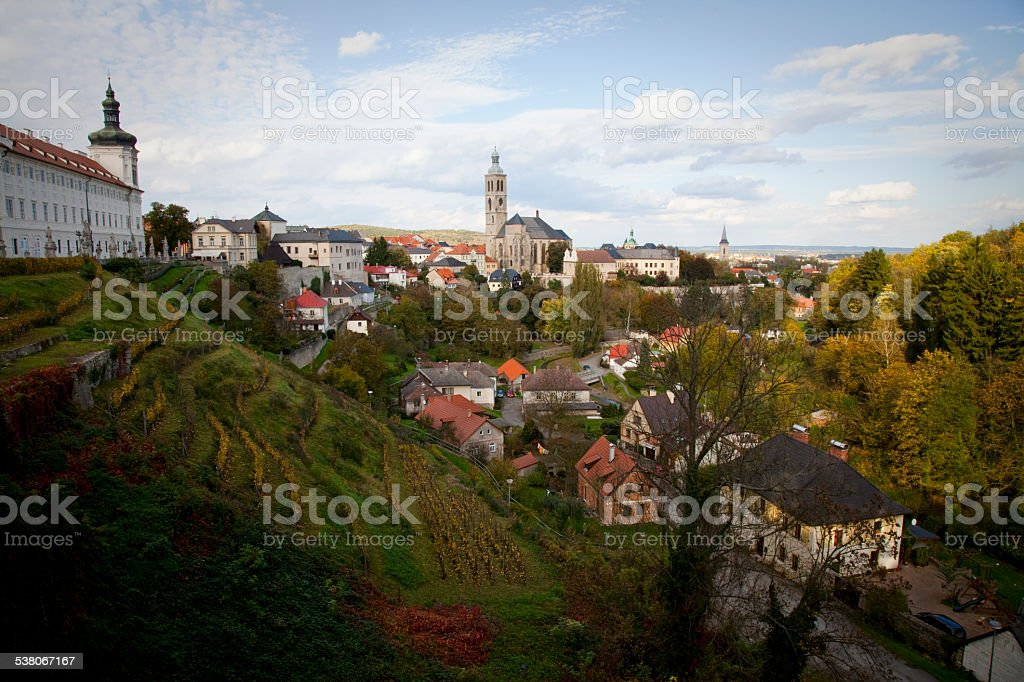 Kutna Hora View stock photo
