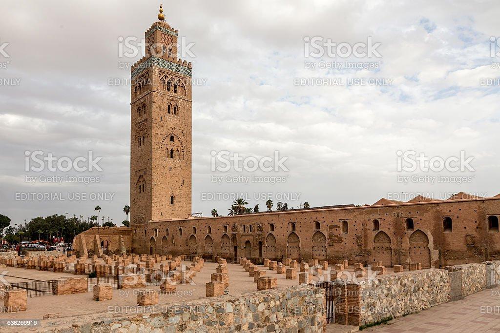 Kutubiyya Mosque in Marrakech stock photo