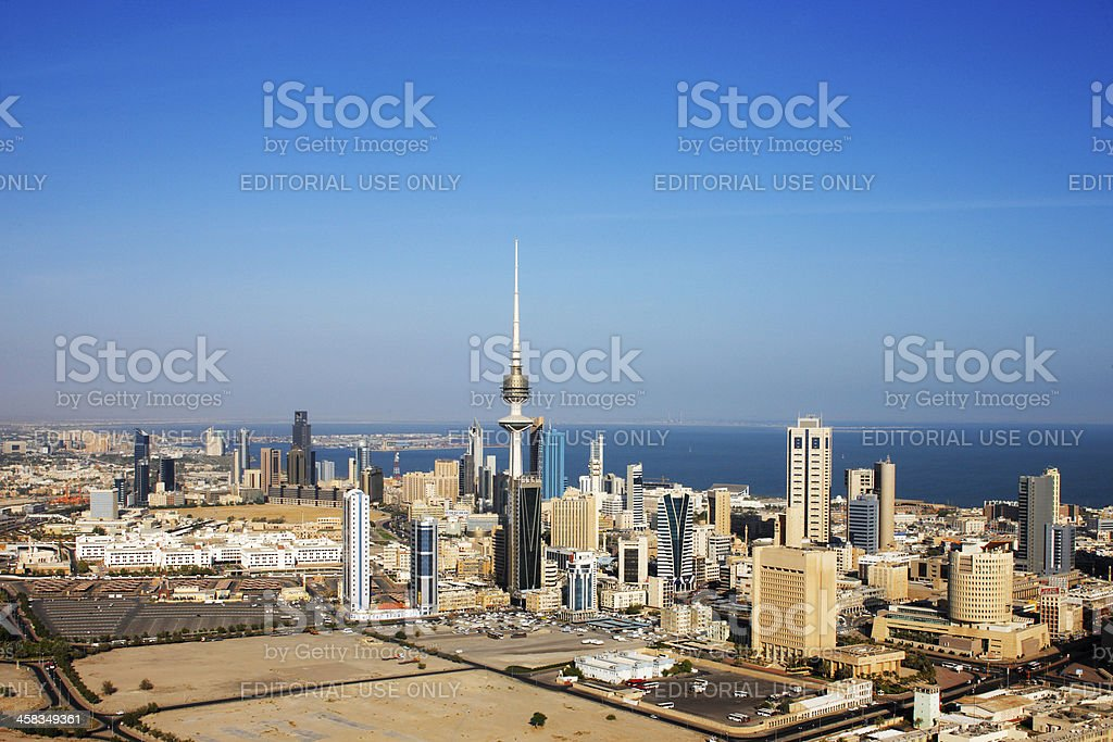 Kuwait City has embraced contemporary architecture stock photo