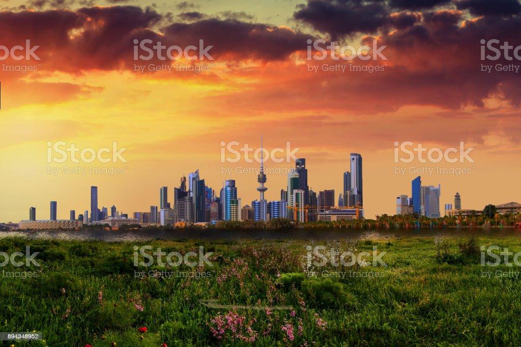kuwait city stock photo