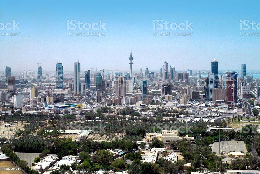 Kuwait city: skyline stock photo