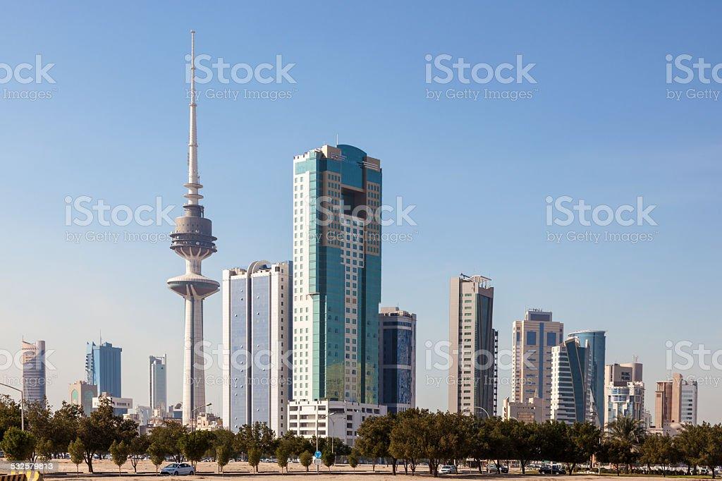 Kuwait Downtown Skyline stock photo